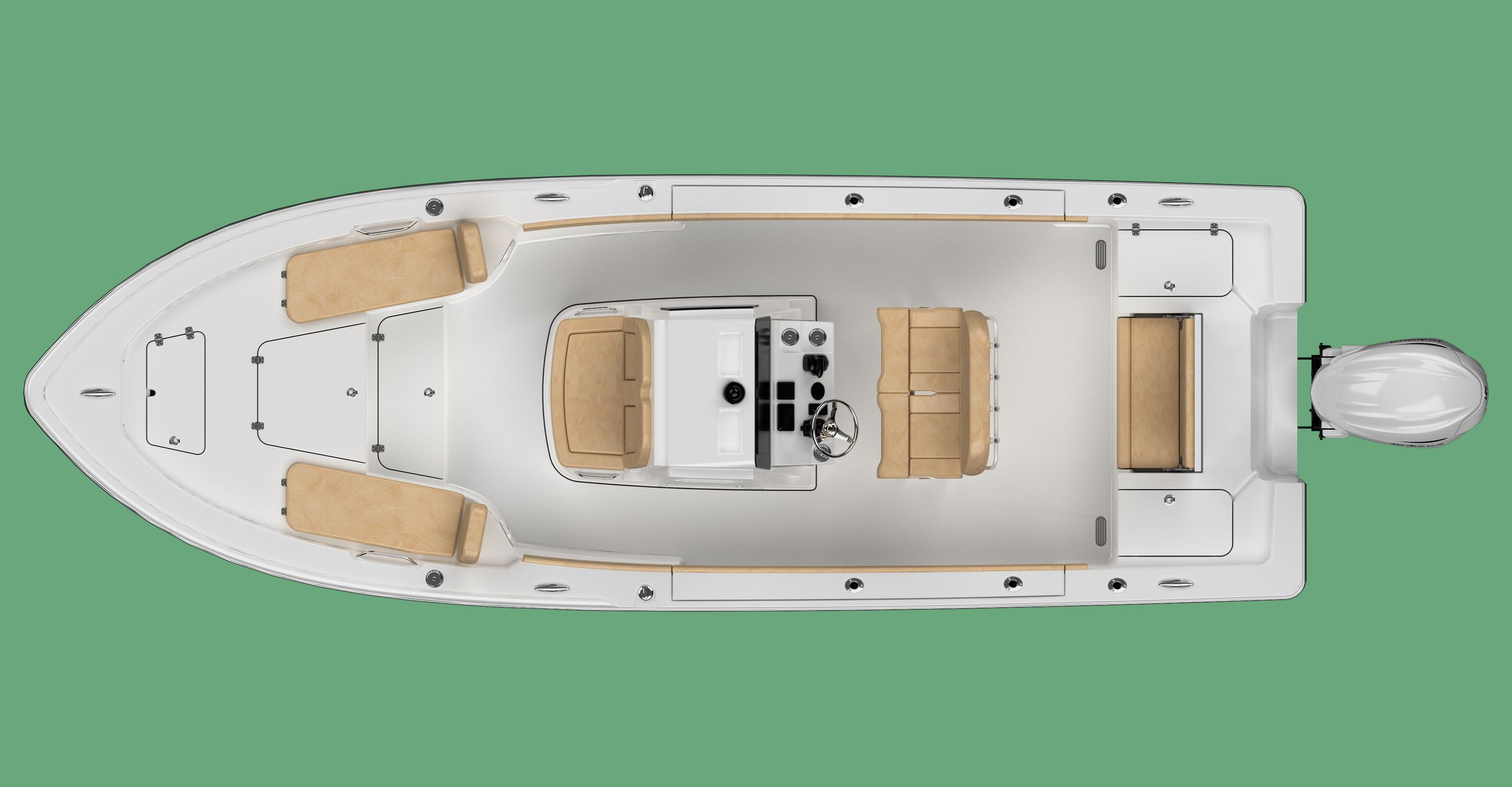 Large detail image of the Masters 247 Bay Boat