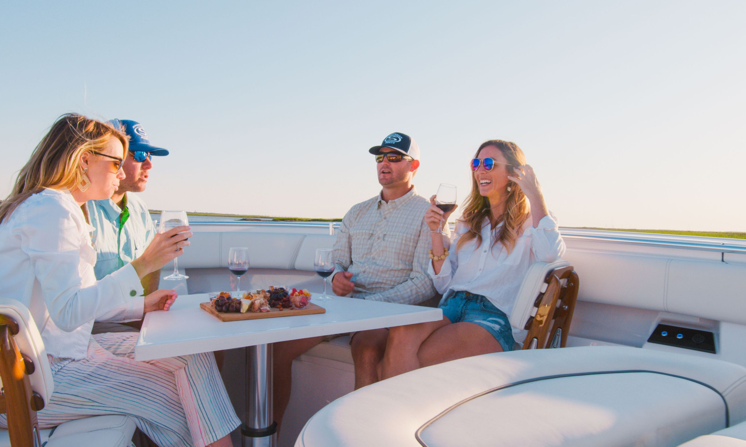 Family time on a Sportsman Boat.